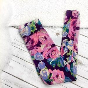 Aerie Pink Floral Leggings